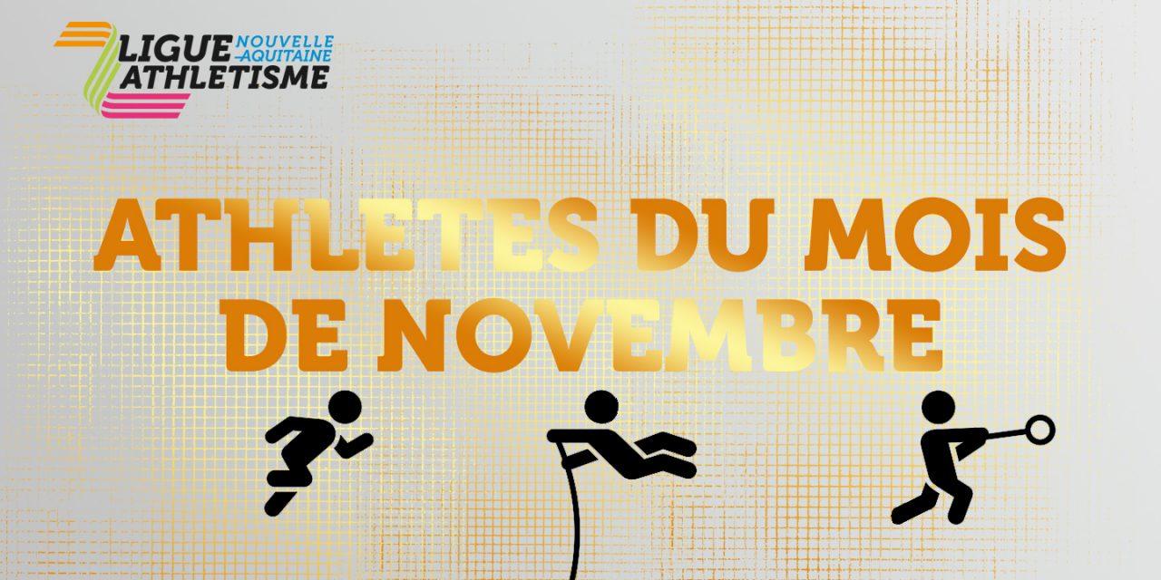 Athlètes du mois de novembre: vous avez élu…