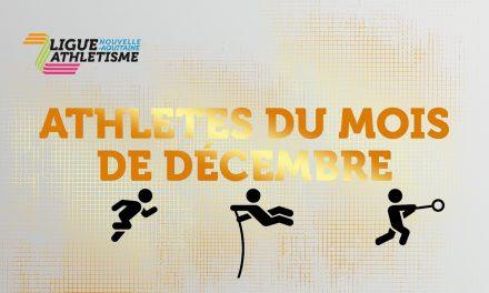 les athlètes du mois de décembre sont…