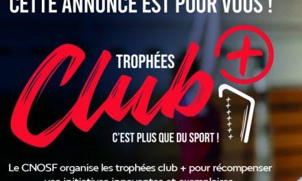 trophées club + : une innovation du CNOSF pour les clubs!