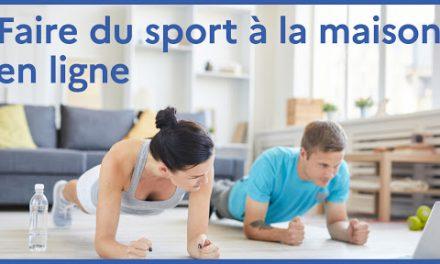 Confinement: faites du sport chez vous!